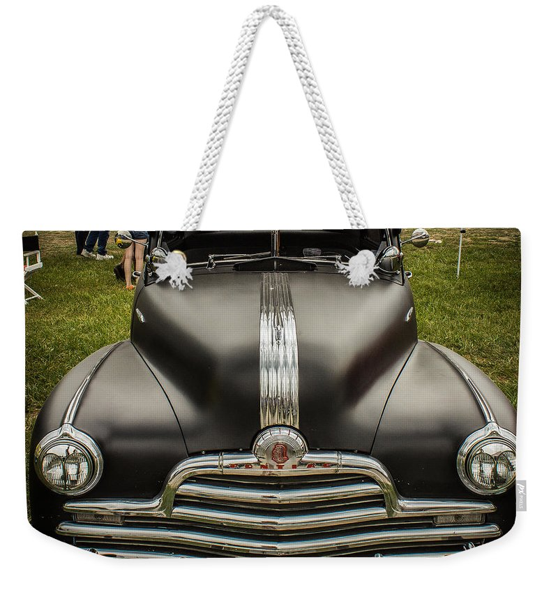 Hot Rod Weekender Tote Bag featuring the photograph Heavy Metal 1941 Pontiac by Ken Kobe