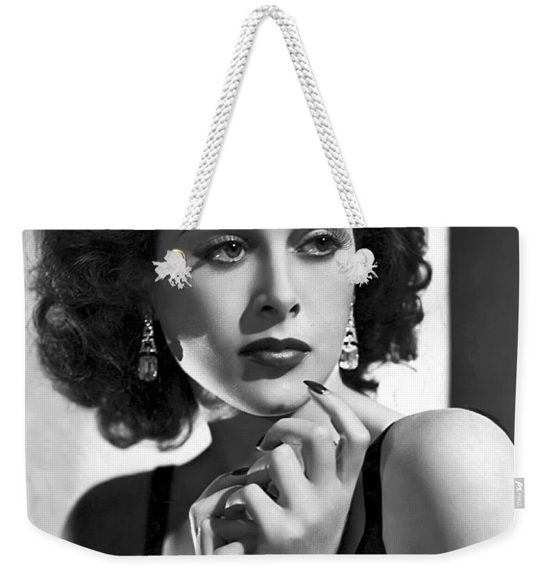 Hedy Weekender Tote Bag featuring the photograph Hedy Lamarr - Beauty And Brains by Daniel Hagerman