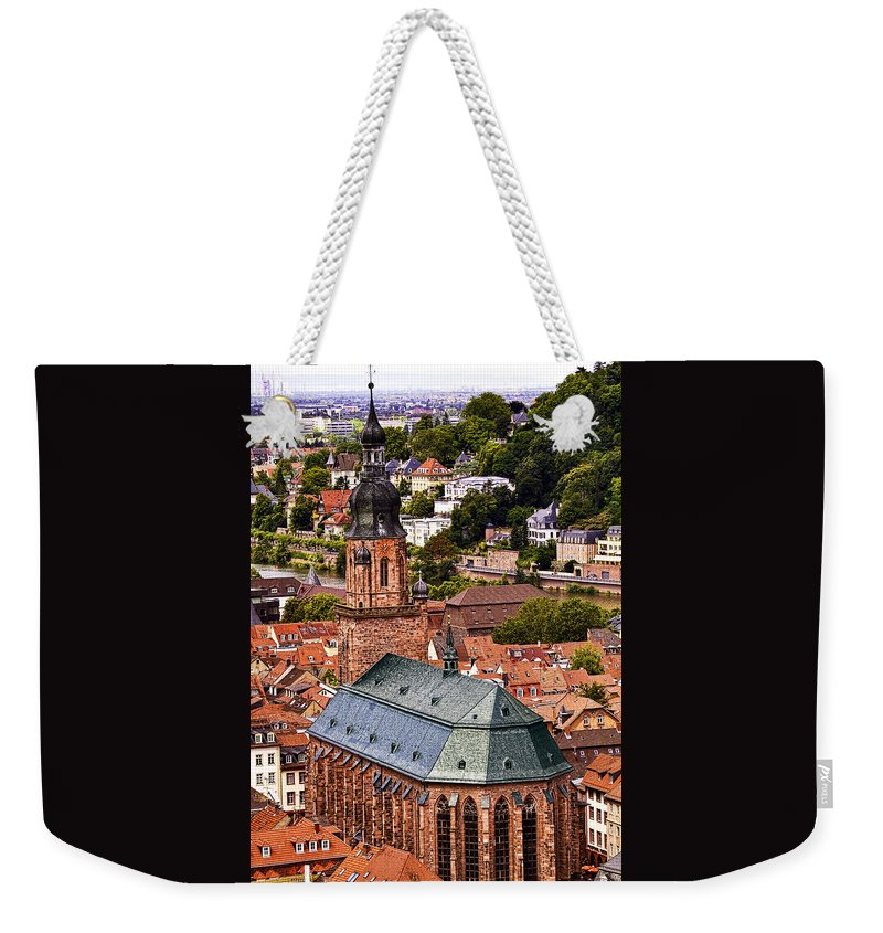 Architecture Weekender Tote Bag featuring the photograph Heidelberg Church Of The Holy Spirit by Marcia Colelli