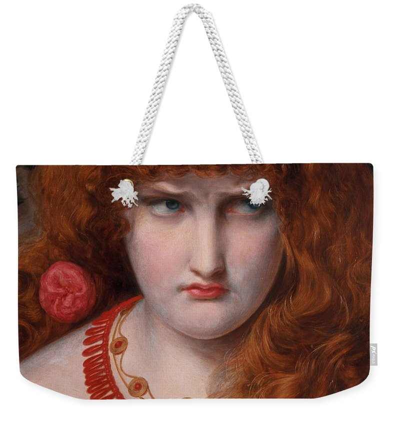 Helen Weekender Tote Bag featuring the painting Helen Of Troy by Anthony Frederick Augustus Sandys