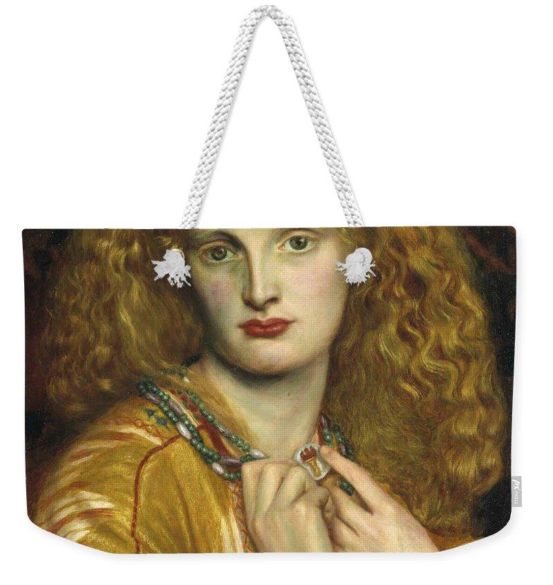 Pre-raphaelite Weekender Tote Bag featuring the painting Helen Of Troy by Philip Ralley