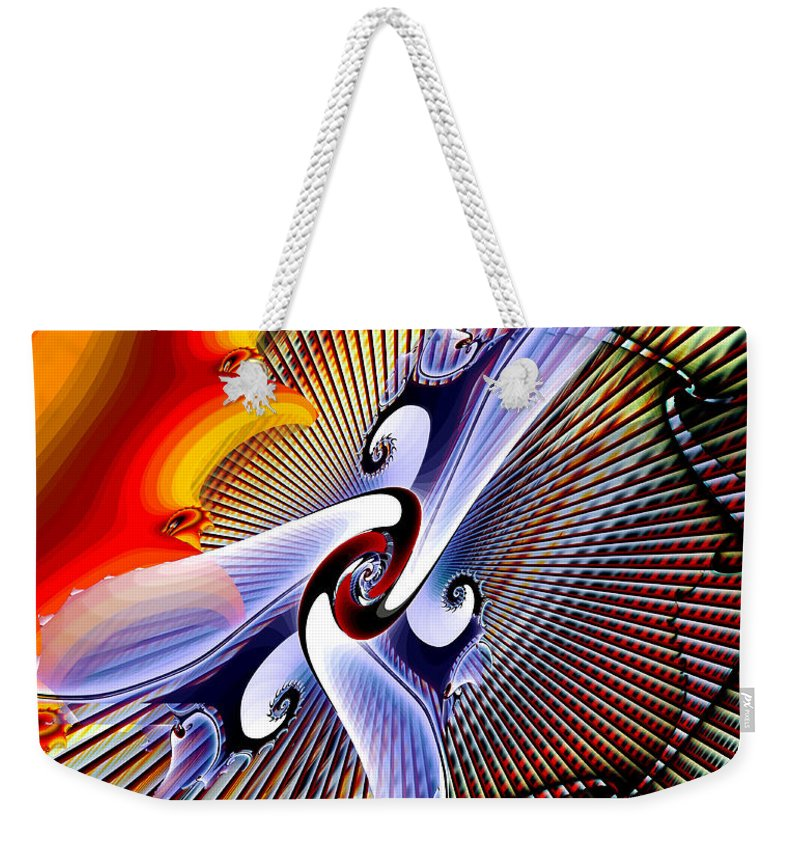 Helios Weekender Tote Bag featuring the digital art Helios by Kimberly Hansen