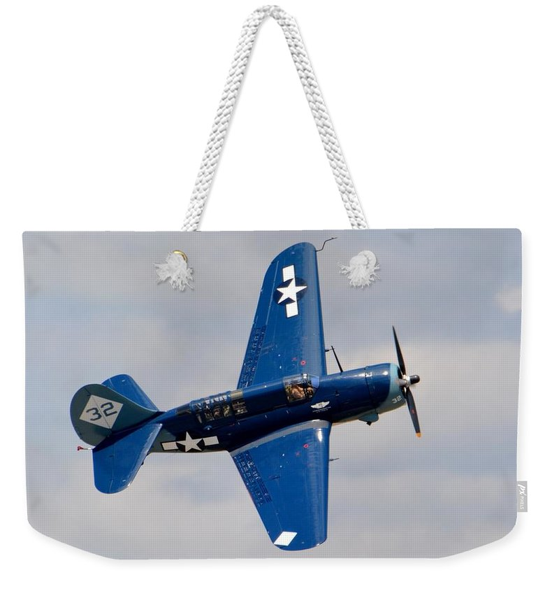 Curtiss Weekender Tote Bag featuring the photograph Helldiver by Matt Abrams