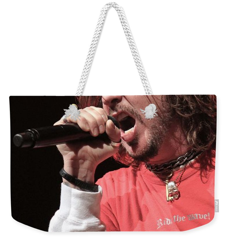 Appearance Weekender Tote Bag featuring the photograph Hellyeah by Concert Photos