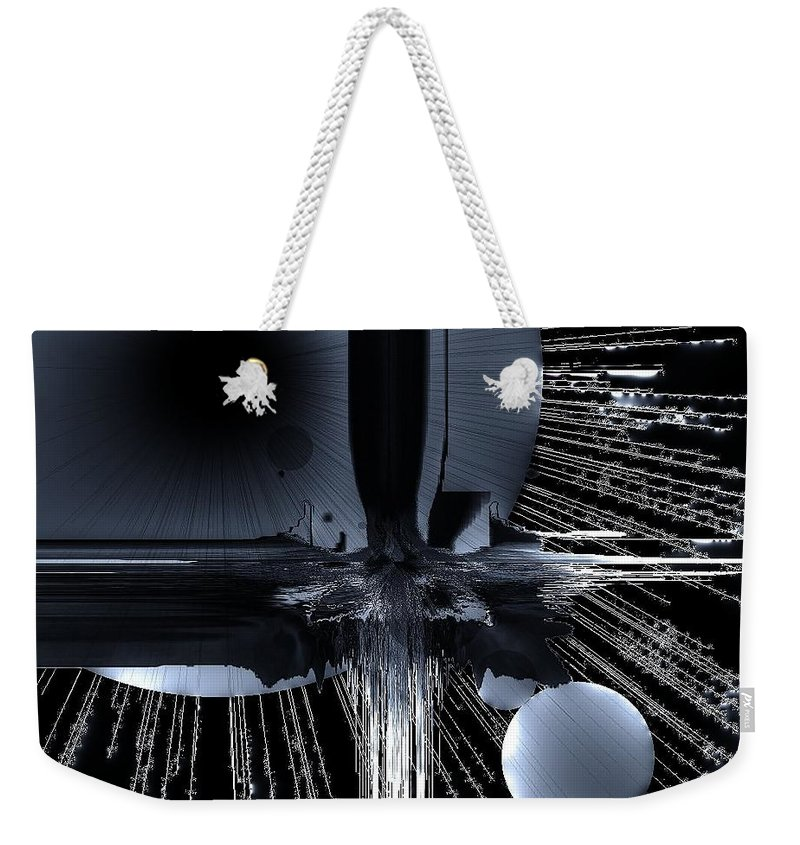 Outer Space Weekender Tote Bag featuring the digital art Helm Of Darkness by Michael Damiani
