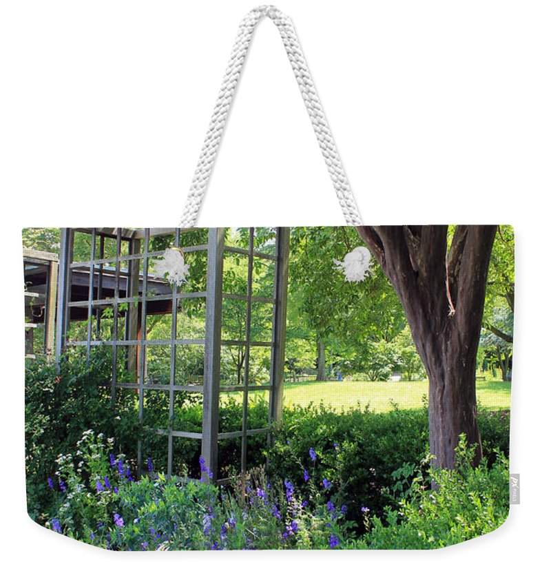 Herbs Weekender Tote Bag featuring the photograph Herb Garden0981 by Carolyn Stagger Cokley