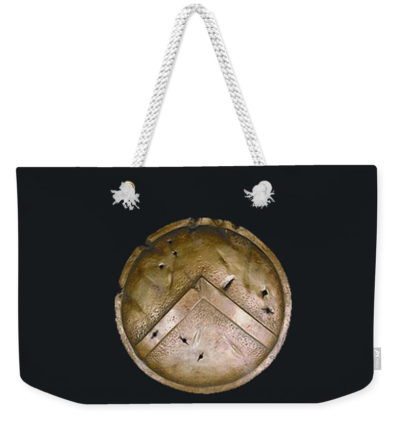 Home Weekender Tote Bag featuring the mixed media Hercules by Marvin Blaine