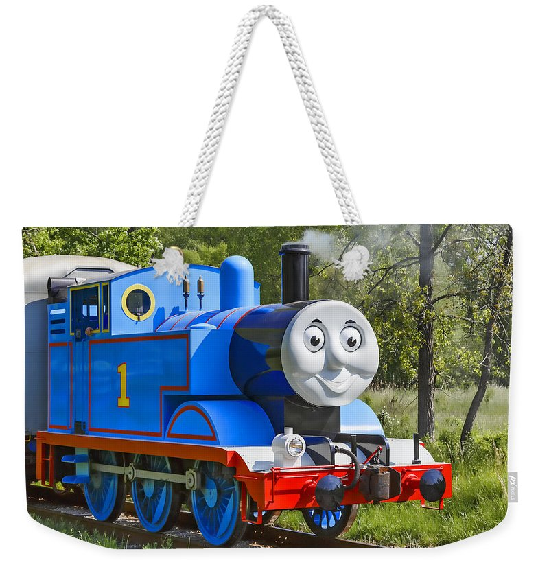 Thomas The Train Weekender Tote Bag featuring the photograph Here Comes Thomas The Train by Dale Kincaid
