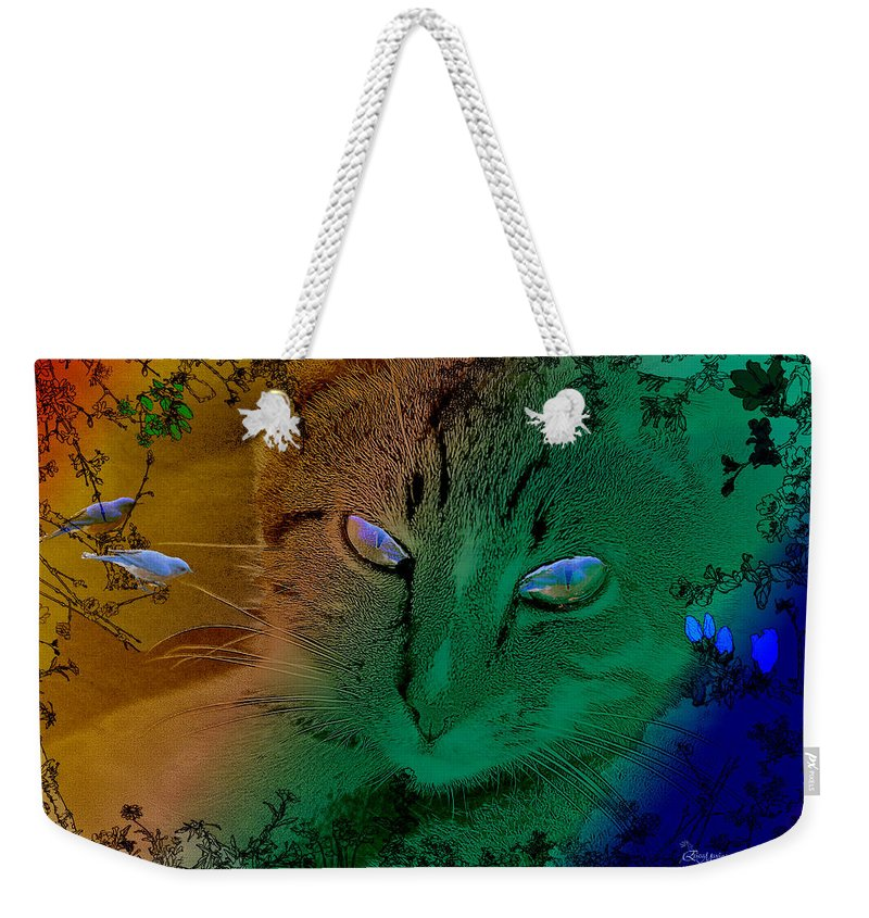 Cat Weekender Tote Bag featuring the photograph Here Kitty Kitty by Ericamaxine Price