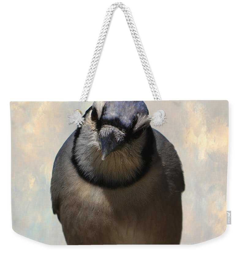 Bird Weekender Tote Bag featuring the photograph Here's Lookin' At You by Deena Stoddard