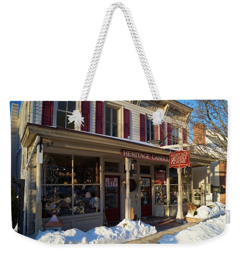 Heritage Weekender Tote Bag featuring the photograph Heritage Candle by John Wall