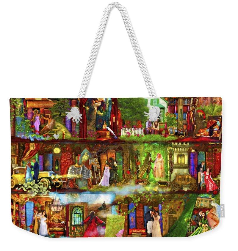 Fairy Weekender Tote Bag featuring the digital art Heroes And Heroines by MGL Meiklejohn Graphics Licensing