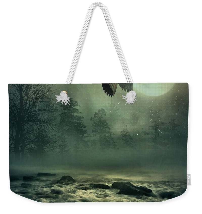 Heron Weekender Tote Bag featuring the photograph Heron By Moonlight by Andrea Kollo