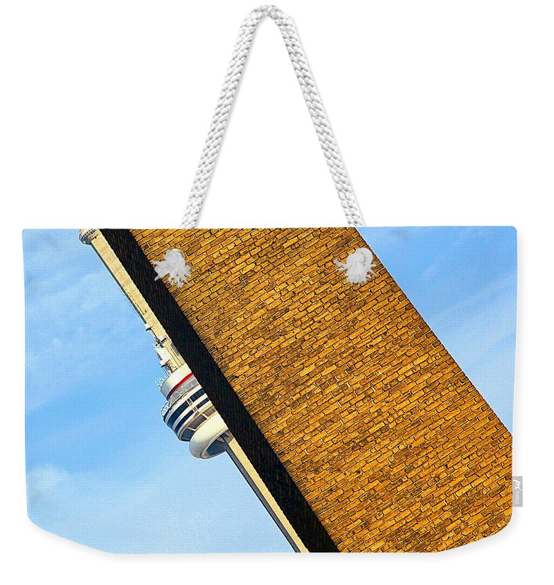 Tower Weekender Tote Bag featuring the photograph Hidden And Falling by Valentino Visentini