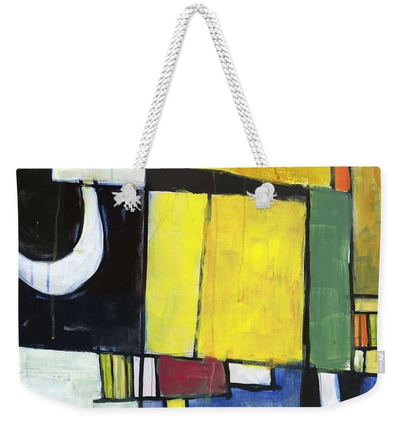 Abstract Weekender Tote Bag featuring the painting Hidden Door by Douglas Simonson