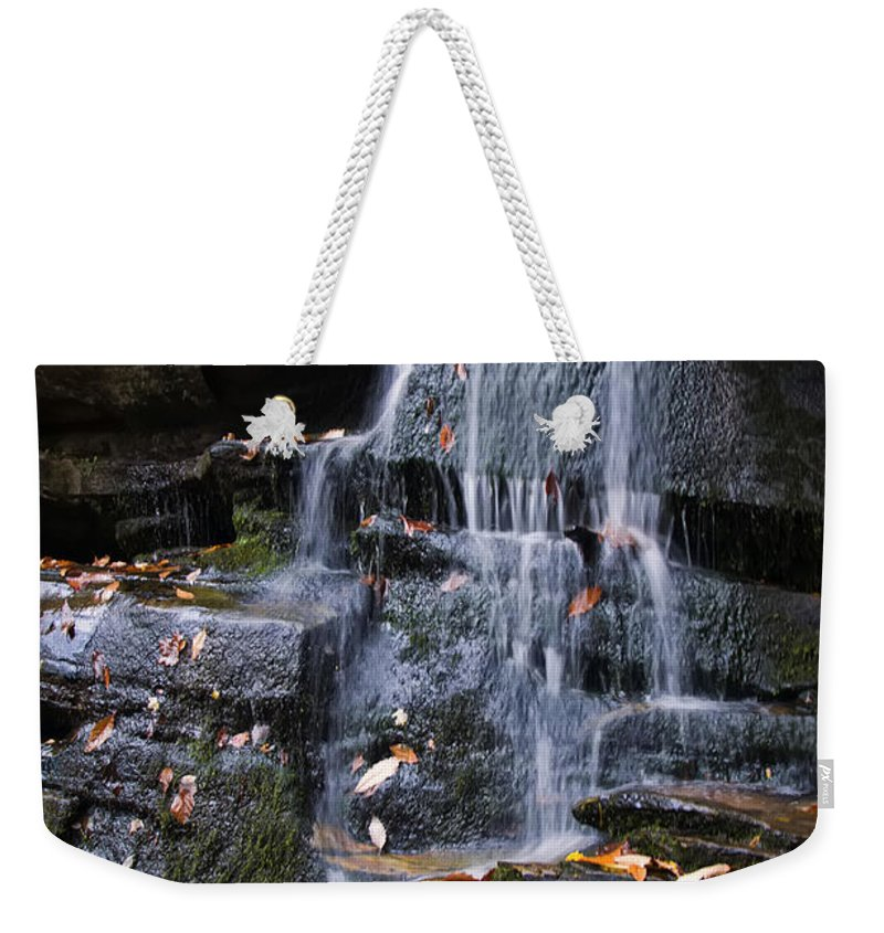 Waterfall Weekender Tote Bag featuring the photograph Hidden Falls 6 by Chris Flees