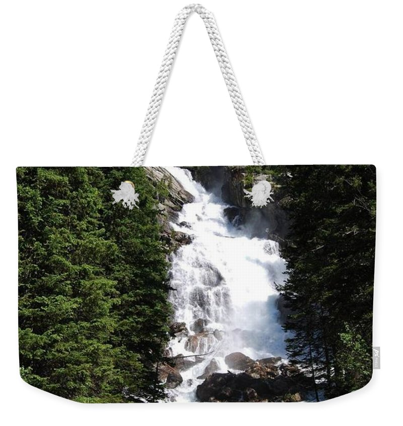 Waterfall Weekender Tote Bag featuring the photograph Hidden Falls by Deanna Cagle