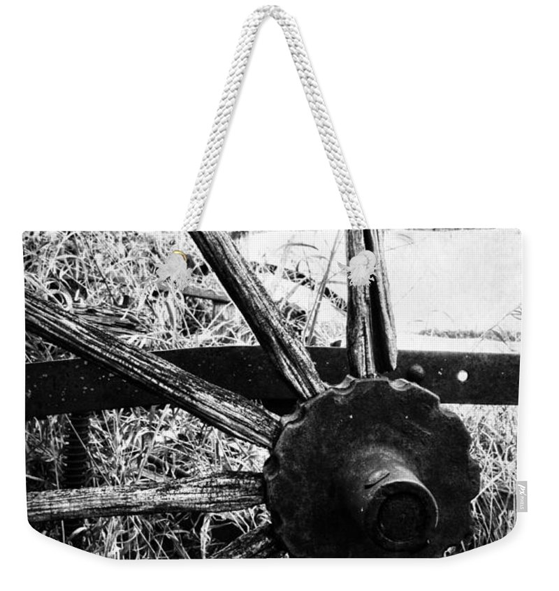 Barn Weekender Tote Bag featuring the photograph Hidden In Grass by The Artist Project