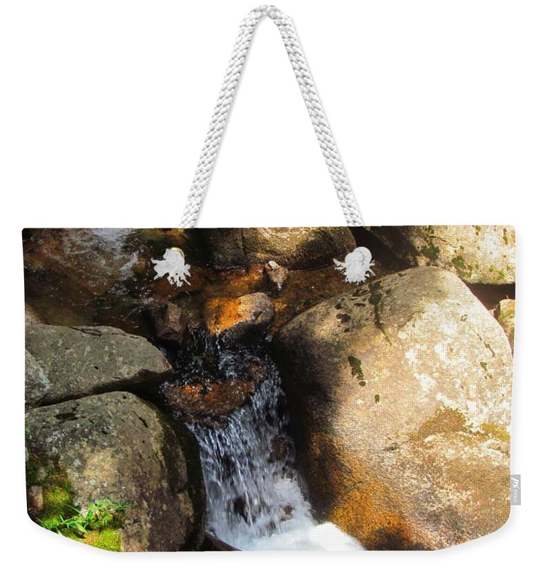 Water Weekender Tote Bag featuring the photograph Hidden Waterfall by Elizabeth Dow