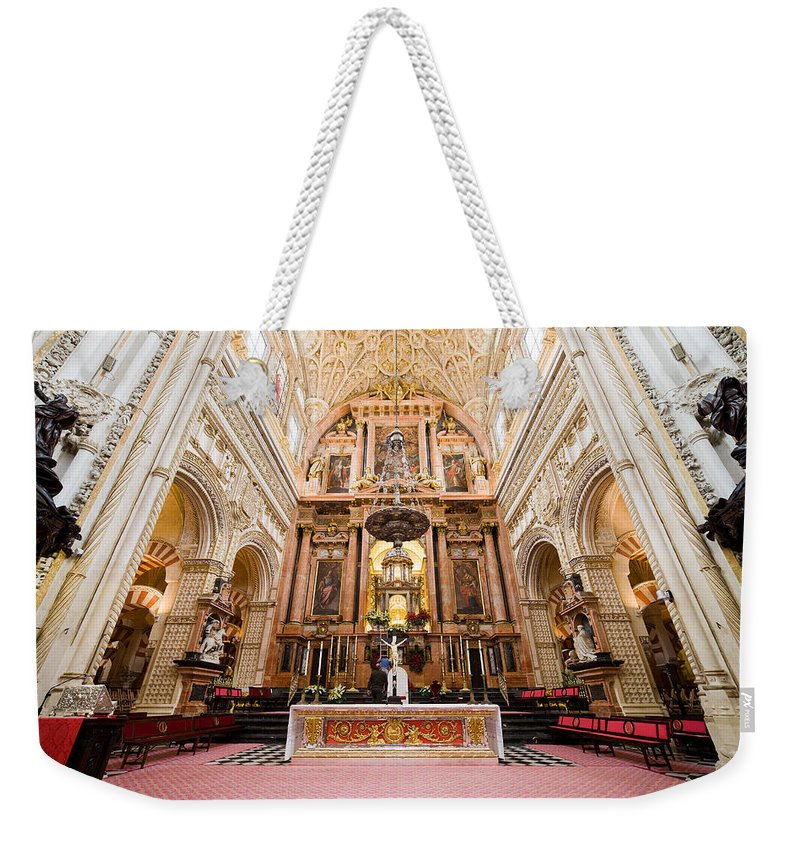 Mezquita Weekender Tote Bag featuring the photograph High Altar Of Cordoba Cathedral by Artur Bogacki