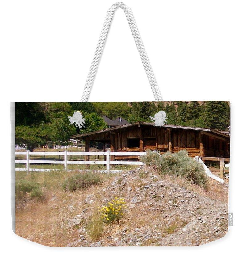 High Desert Weekender Tote Bag featuring the photograph High Desert by Bobbee Rickard