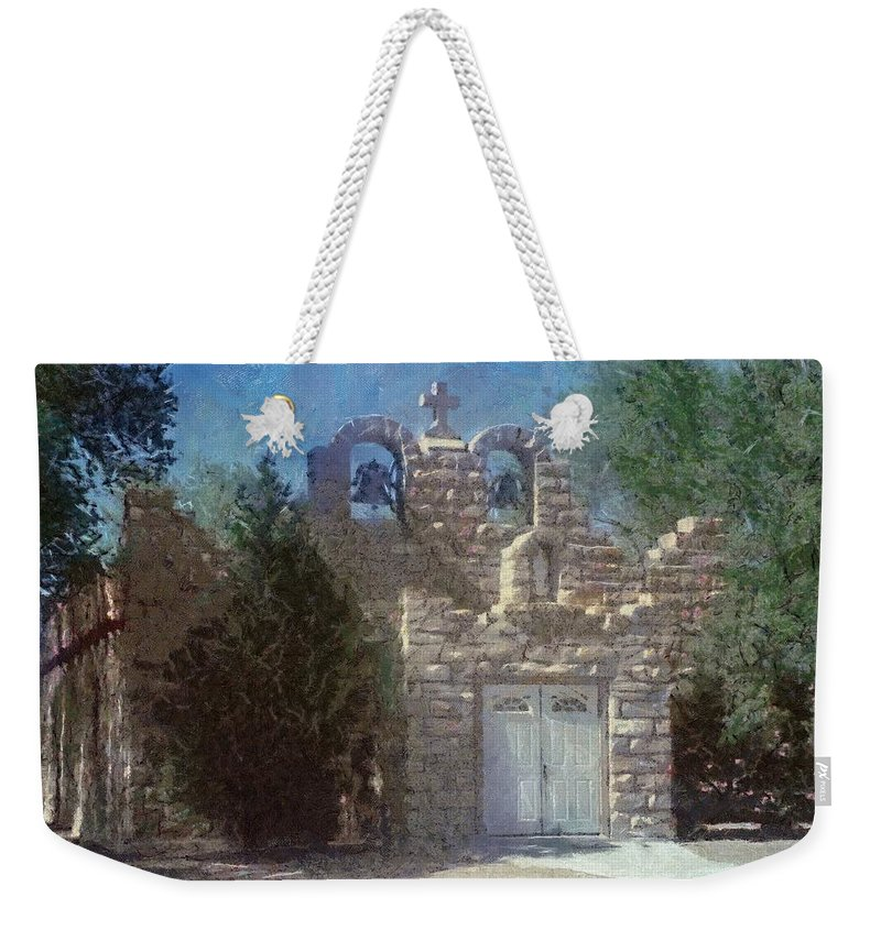 Architecture Weekender Tote Bag featuring the painting High Desert Church by Jeffrey Kolker