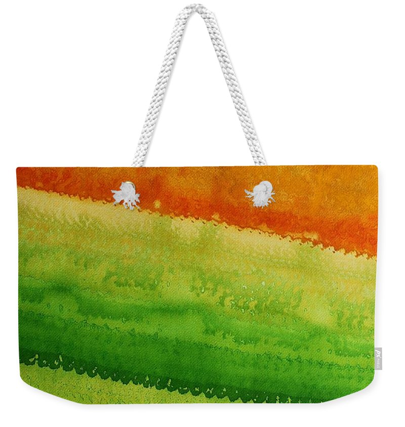 Sol Luckman Weekender Tote Bag featuring the painting High Desert Original Painting by Sol Luckman
