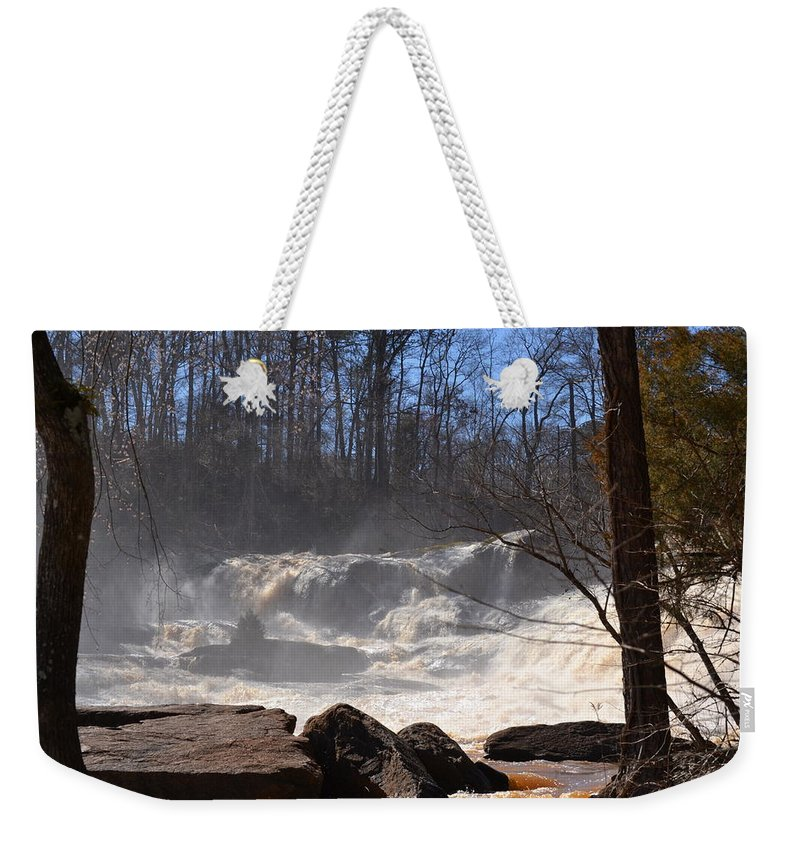 High Falls State Park Weekender Tote Bag featuring the photograph High Falls State Park by Tara Potts