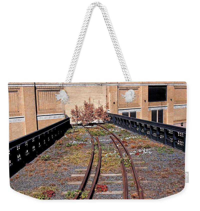 The High Line Weekender Tote Bag featuring the photograph High Line Spur by Rona Black