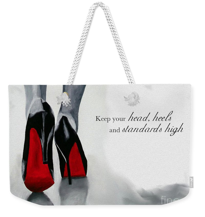 Christian Louboutin Weekender Tote Bag featuring the mixed media High Standards by My Inspiration