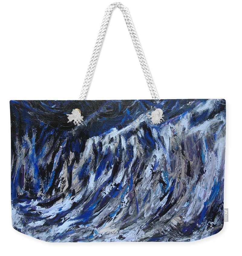 Abstract Art Paintings Weekender Tote Bag featuring the painting High Tide by Christine Cobden