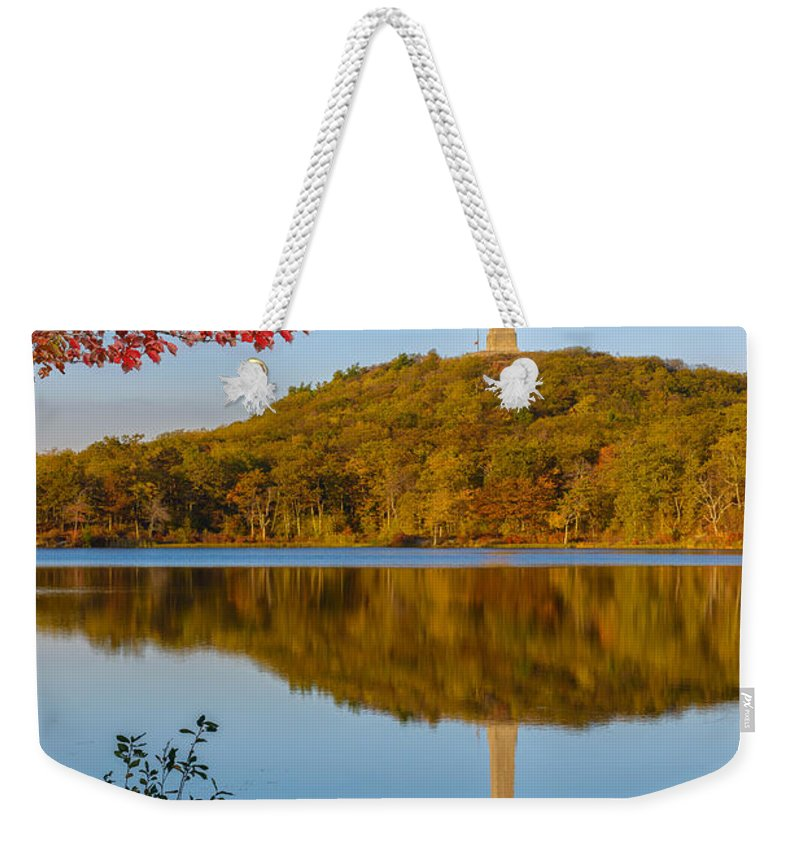 Highpoint Weekender Tote Bag featuring the photograph Highpoint Fall by Mark Robert Rogers