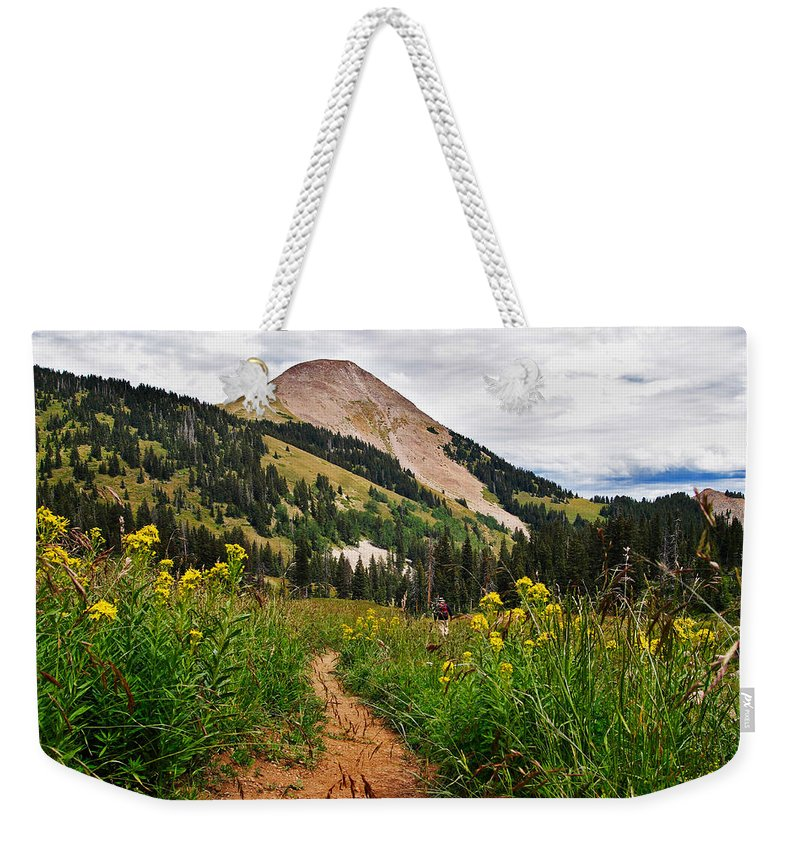 3scape Weekender Tote Bag featuring the photograph Hiking In La Sal by Adam Romanowicz