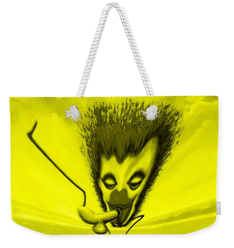 Genio Weekender Tote Bag featuring the mixed media Hilarious Get-together by Genio GgXpress