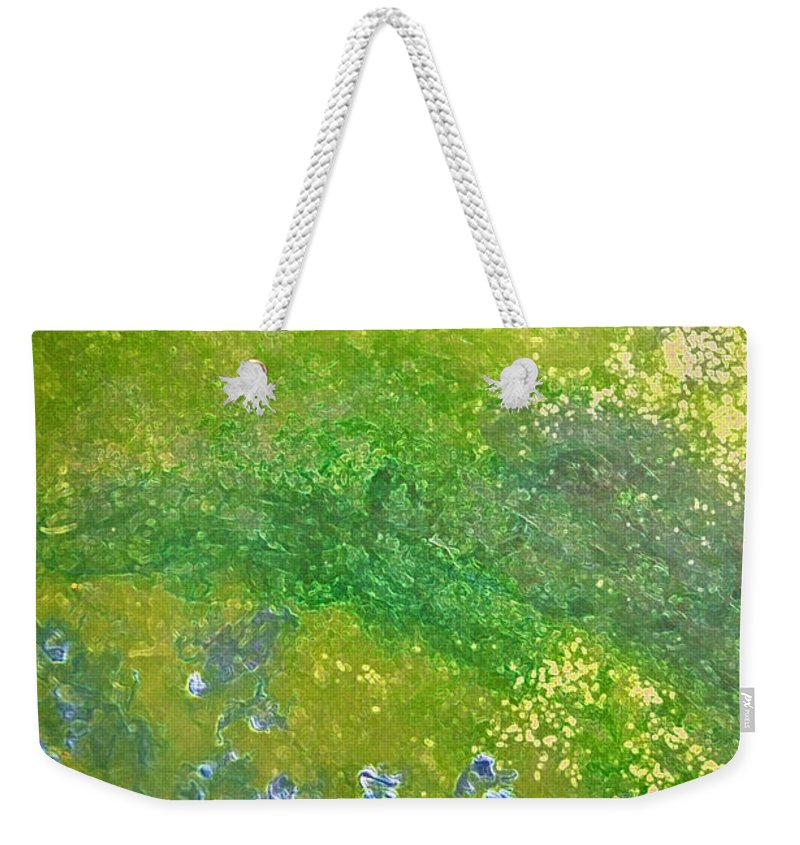 First Star Art Weekender Tote Bag featuring the painting Hillside By Jrr by First Star Art