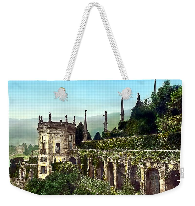 Tranquil Weekender Tote Bag featuring the photograph Hillside Mansion by Terry Reynoldson