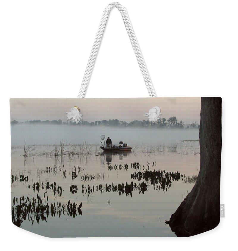 Landscape Weekender Tote Bag featuring the photograph His Time by Peg Urban