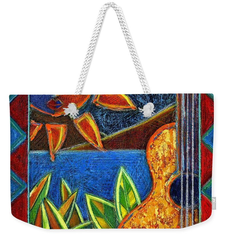 Guitar Weekender Tote Bag featuring the painting Hispanic Heritage by Oscar Ortiz