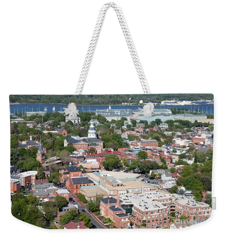 Historic District Weekender Tote Bag featuring the photograph Historic Annapolis Maryland by Bill Cobb
