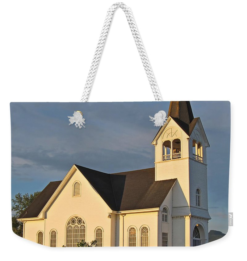 Church Weekender Tote Bag featuring the photograph Historic Country Church Art Prints by Valerie Garner