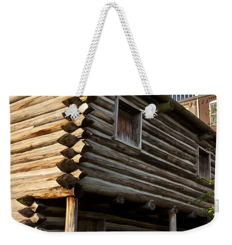 Log Weekender Tote Bag featuring the photograph Historic Nashville by Brian Jannsen
