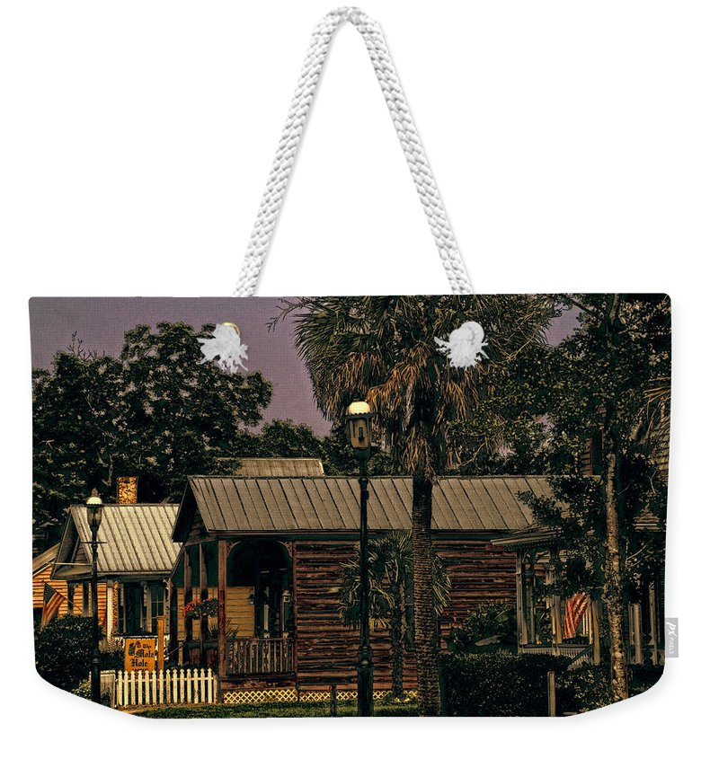 Historic Pensacola Weekender Tote Bag featuring the photograph Historic Pensacola Muted Tones by Jon Cody