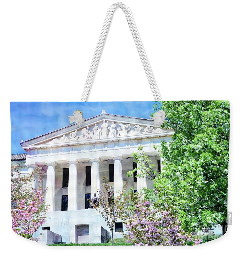 #buffalo Weekender Tote Bag featuring the photograph Historical Museum In Spring by Kathleen Struckle