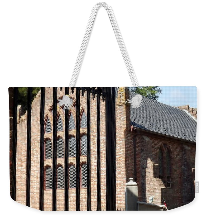 Gate Weekender Tote Bag featuring the digital art History Beyond The Gate by Barkley Simpson