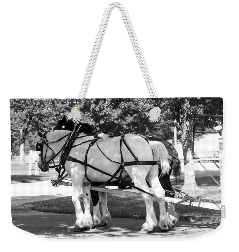 Team Weekender Tote Bag featuring the photograph Hitched by Annette Persinger
