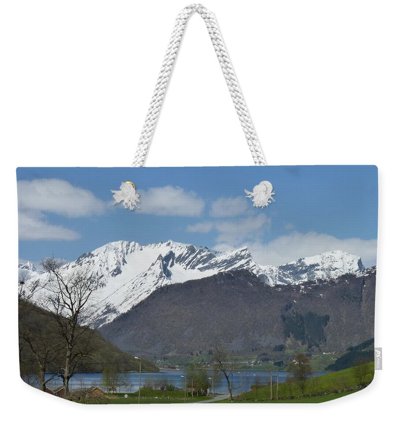 Weekender Tote Bag featuring the photograph Hjorundfjord by Katerina Naumenko