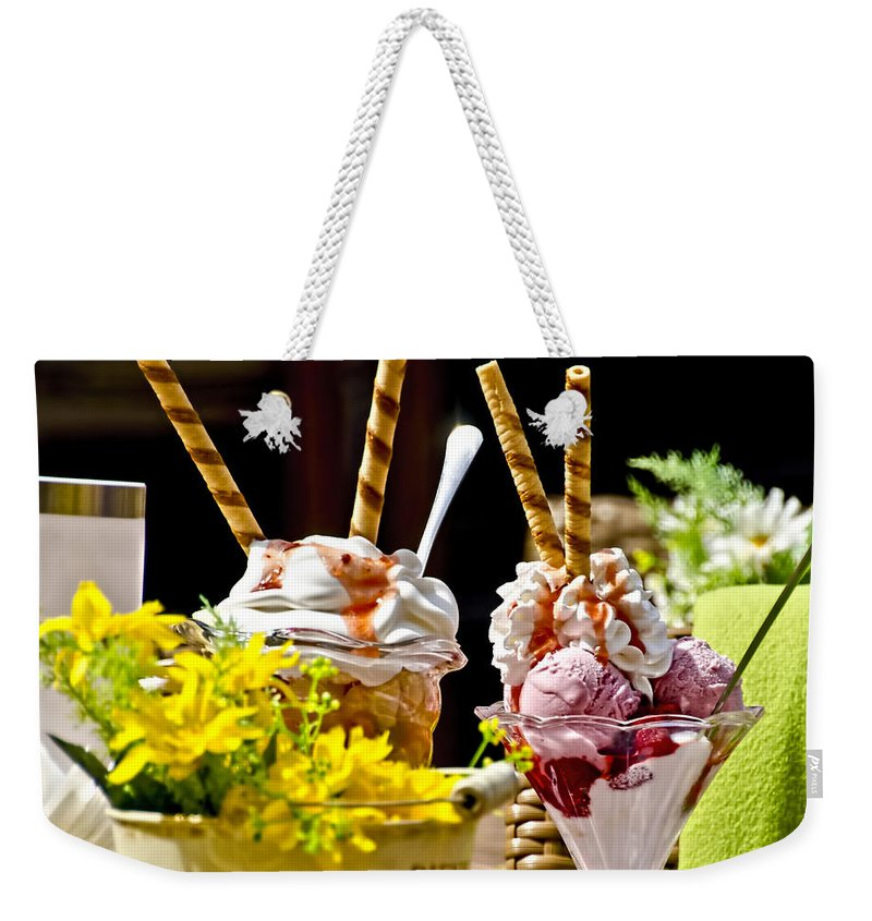 Dessert Weekender Tote Bag featuring the photograph Hmmm Hmmm Good by Jon Berghoff