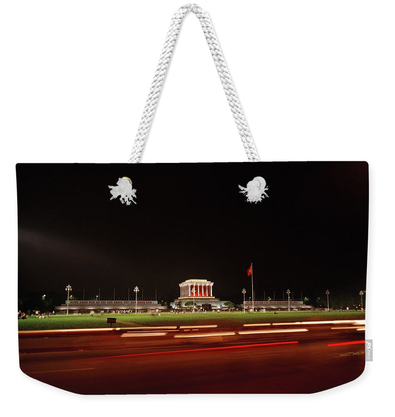 Asia Weekender Tote Bag featuring the photograph Ho Chi Minh Mausoleum Hanoi by Shaun Higson