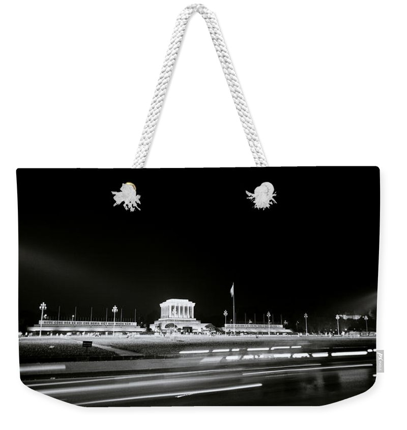 Asia Weekender Tote Bag featuring the photograph Ho Chi Minh Mausoleum In Hanoi by Shaun Higson