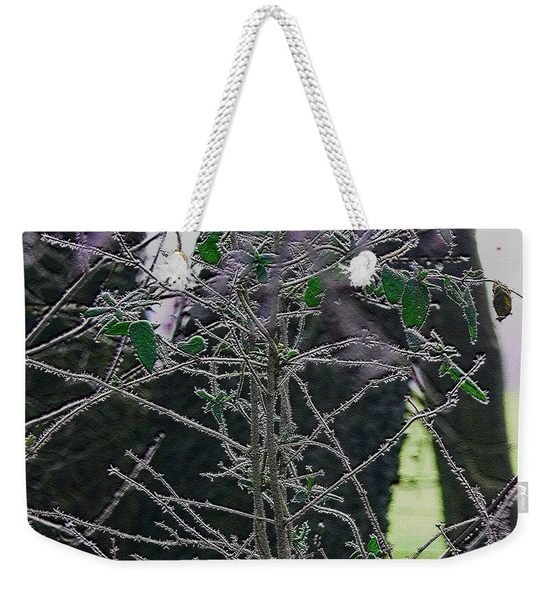 Frost Weekender Tote Bag featuring the photograph Hoars Frost-featured In Nature Photography Group by Ericamaxine Price